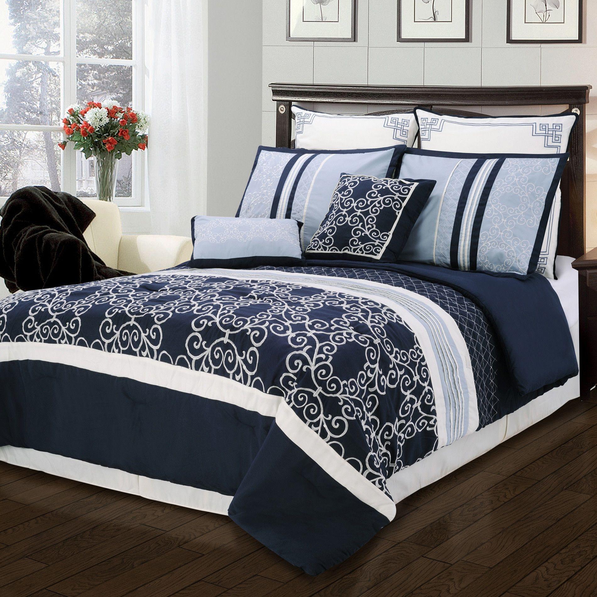 Simple Luxury Clarissa 8 Piece Comforter Set Comforter