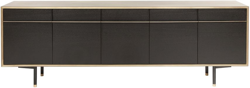 Wud Black And Gold Buffet Materials Black Washed White Oak