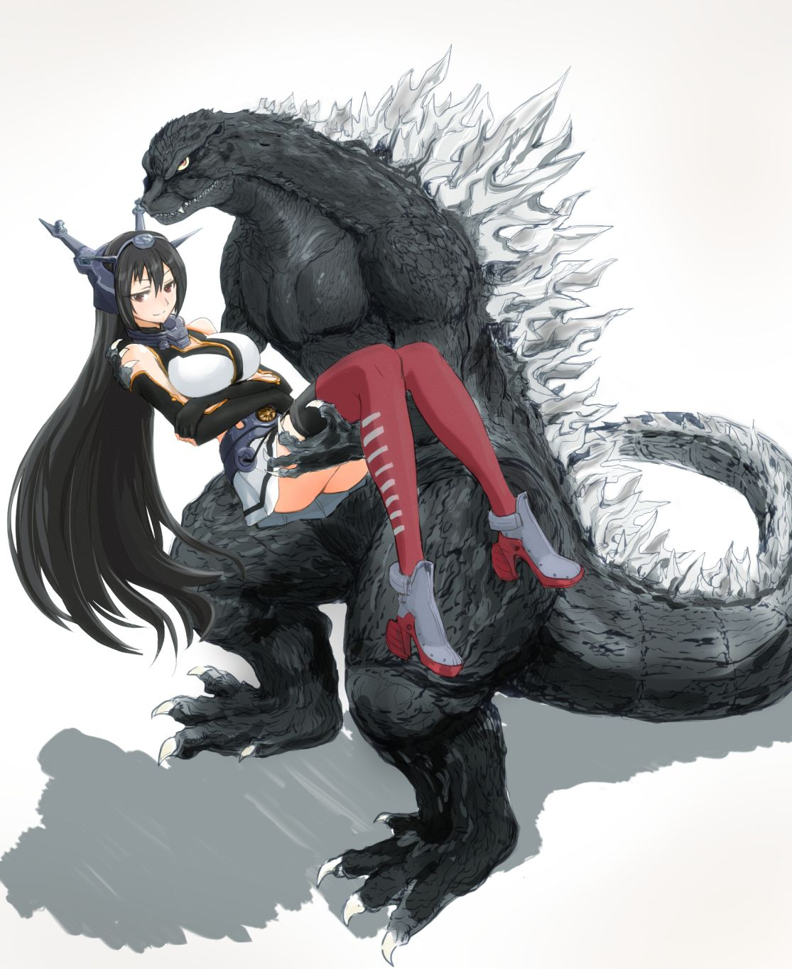"""Godzilla"" ""Nagato"" Kantai Collection (KanColle"