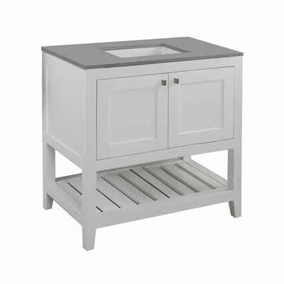 Photo of LACAVA Stile 36″ Single Bathroom Vanity Base Only Base Finish: Taupe with Fine Texture