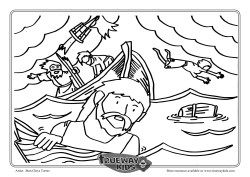 Paul And The Shipwreck Colouring Page Coloring Pages Color
