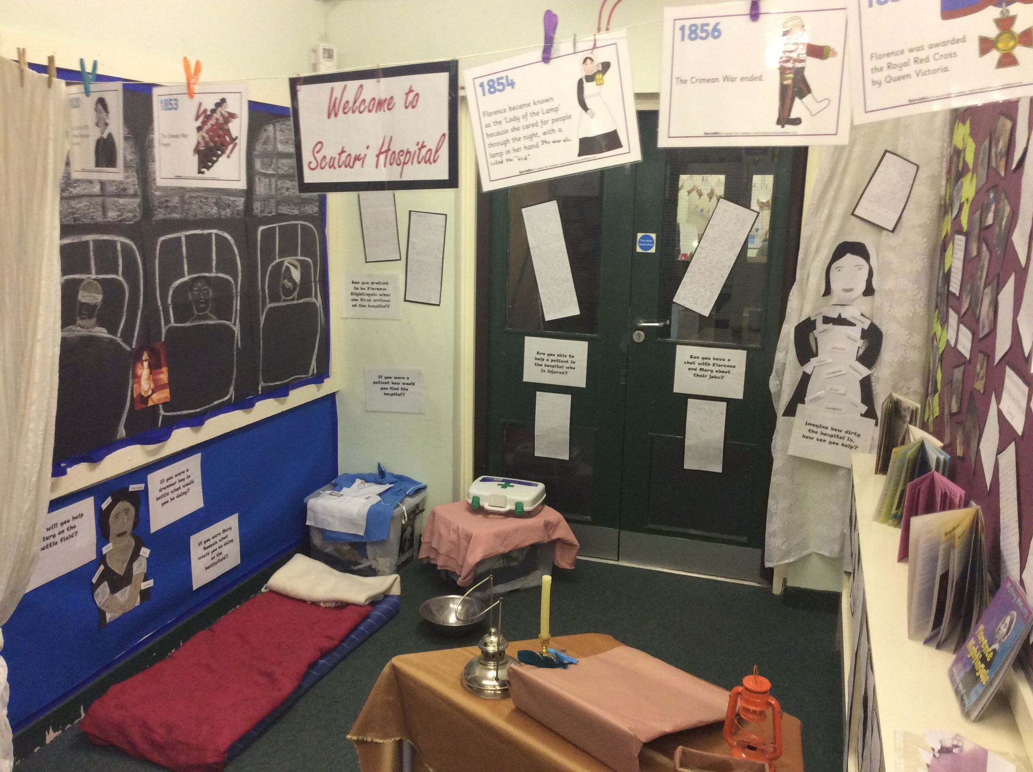 florence nightingale display and role play area role play florence nightingale and mary seacole role play area history working wall