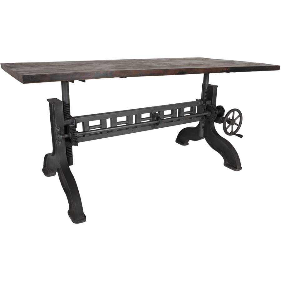 Industrial Crank Adjustable Table Sie A8425 Build It Pinterest