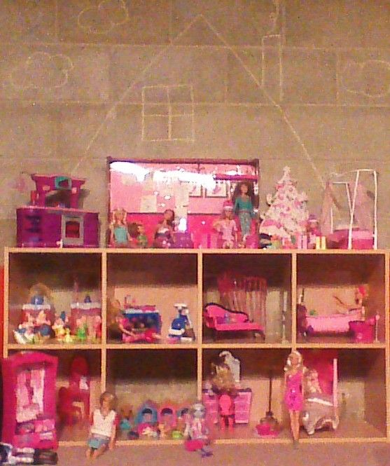 Barbie House Make Your Own We Had The Storage Shelves So Cost Absolutely Nothing To Create Great Time To Cycle Diy Barbie House Barbie House Barbie Storage