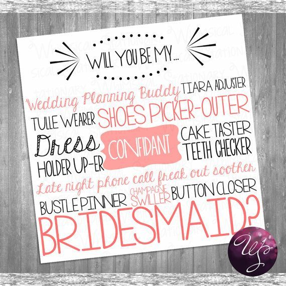 Will You Be My Bridesmaid Ideas - Google Search