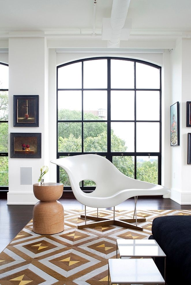 projects idea of white eames chair. Eames La Chaise lounge chair  black steel framed windows white walls chocolate