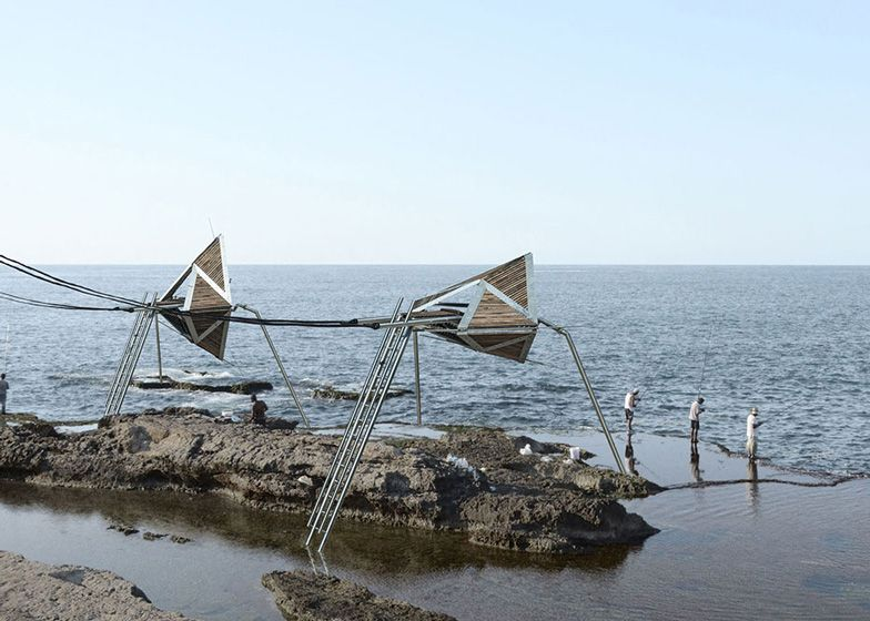 Iris structures would generate wave power along the Beirut shoreline