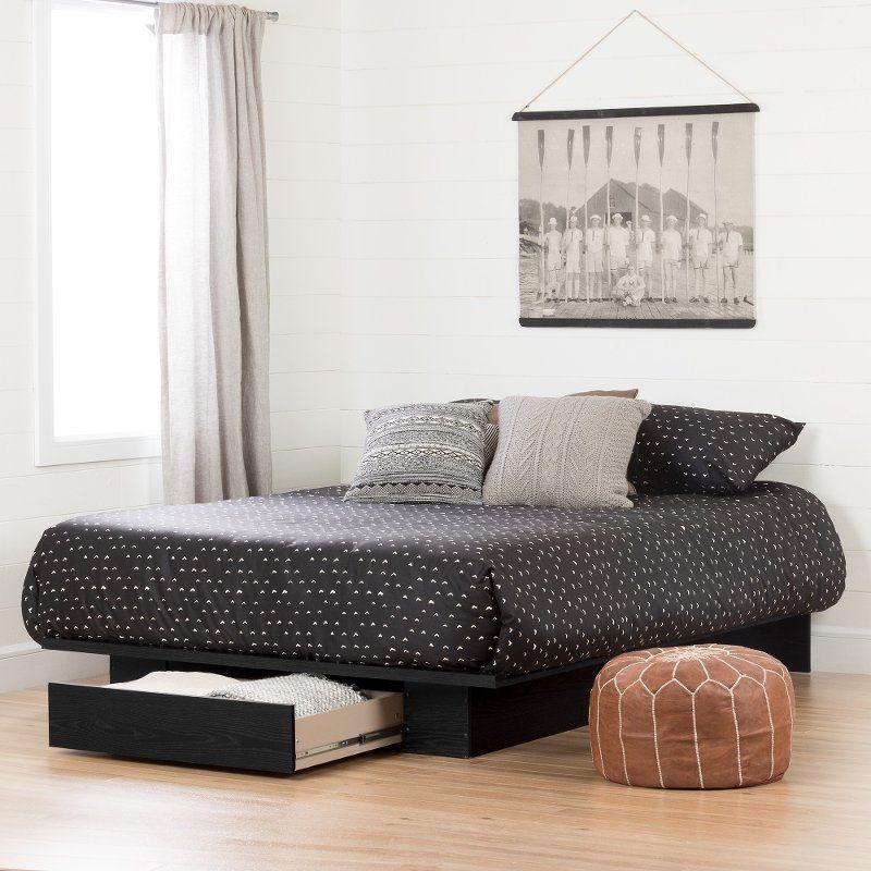 Modern Farmhouse Black Full Queen Platform Bed Holland