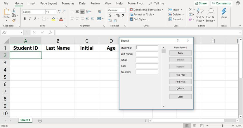 Use An Excel Data Form To Quickly Add Data To A Worksheet Data Form Data Excel Add worksheets together in excel