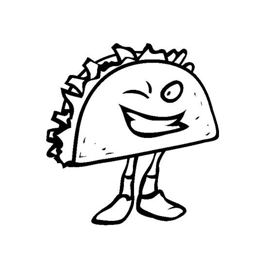 Printable Junk Food Sandwich Coloring Pages   Week of the Young ...