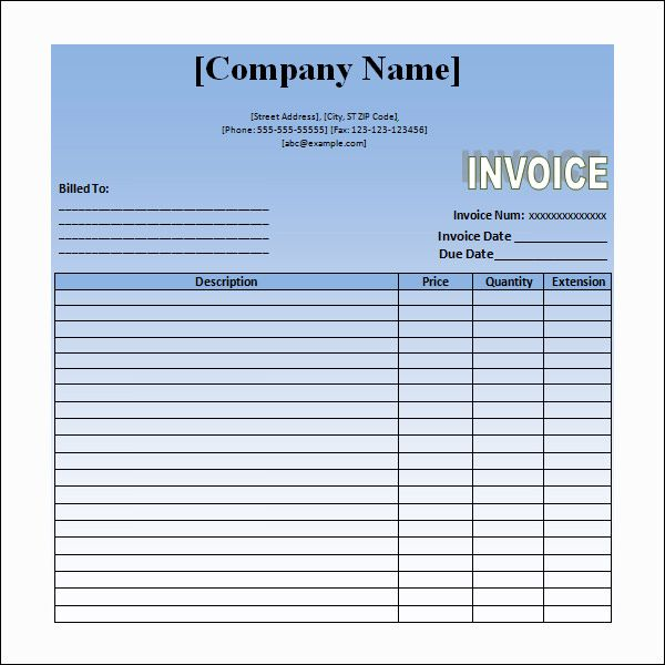 Sample Invoice For Service Rendered  Random    Invoice