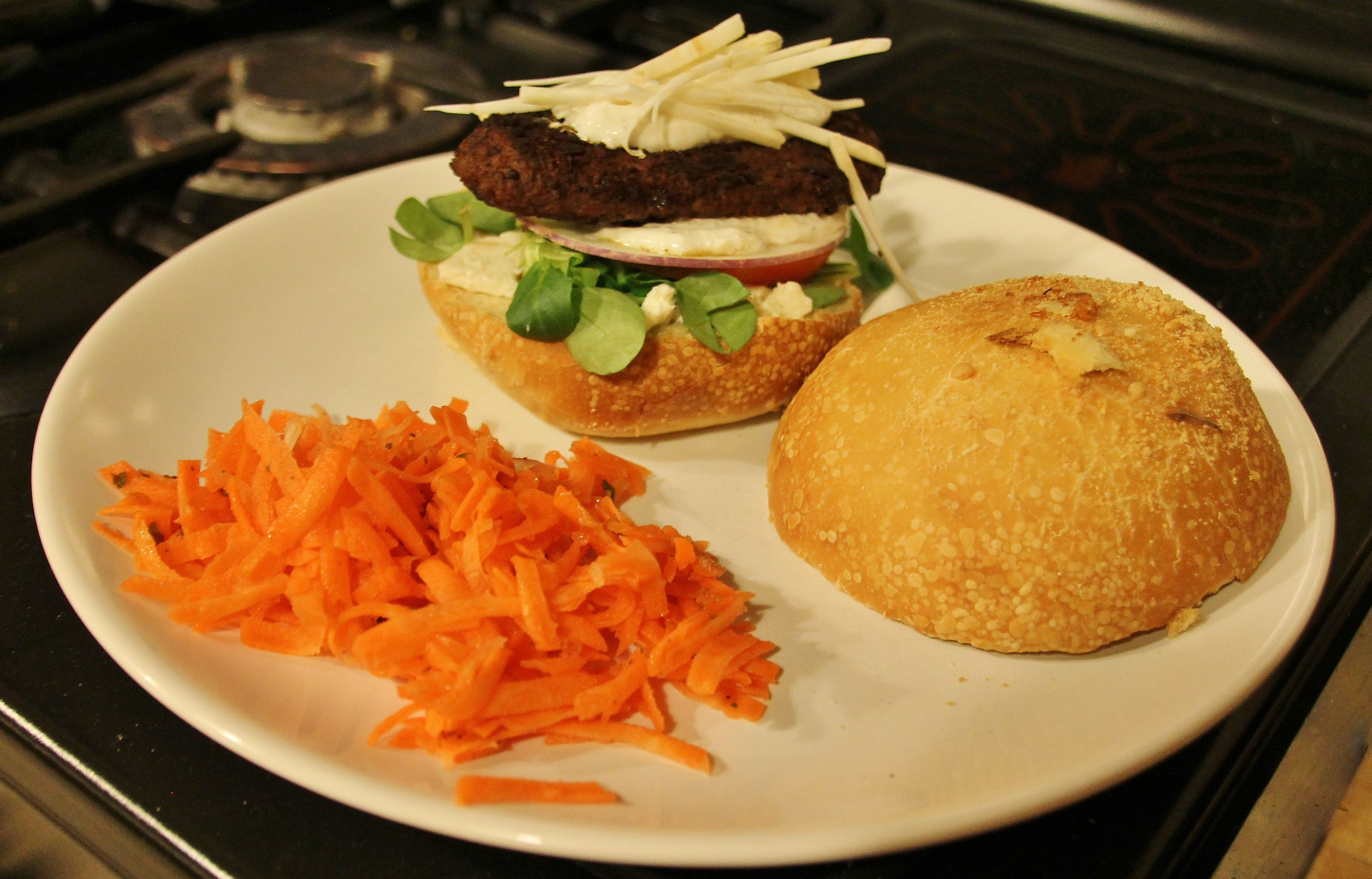 Healthy homemade burger