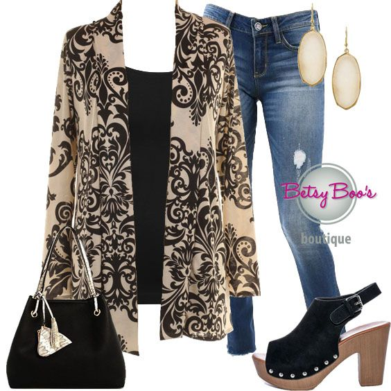 353dbbef77 ... Betsy Boo s Boutique. Set includes 3 items  Black Baroque Open Cardy