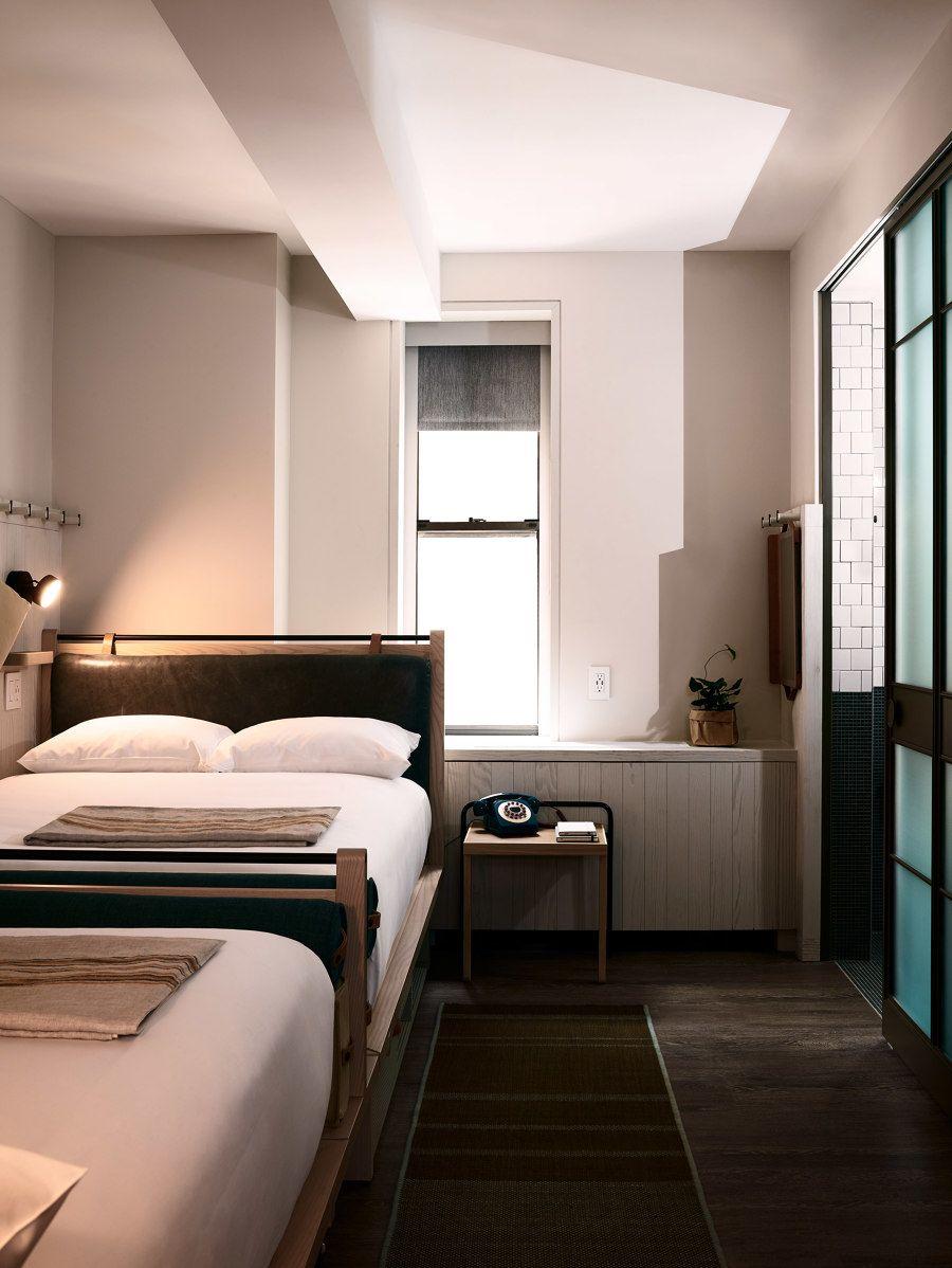 Moxy Times Square Hotel room design, Hotel interiors