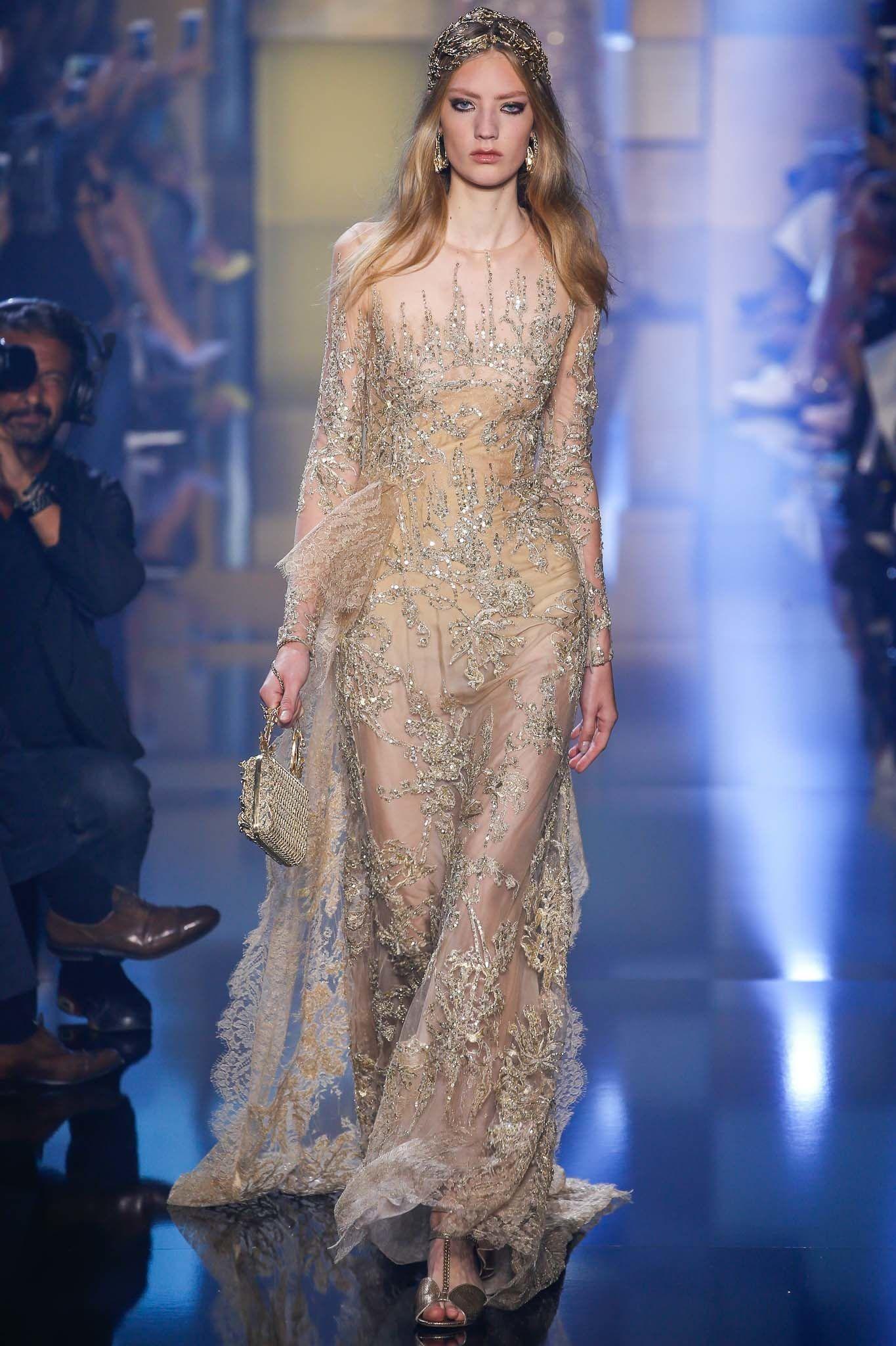 Elie Saab Fall 2015 Couture Fashion Show - Susanne Knipper (Elite)