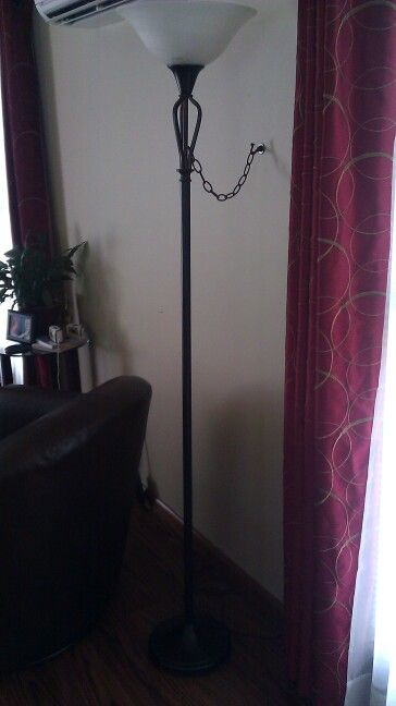 Baby proofing! Decorator chain and ceiling plant hanger. Easily unhooks for moving to clean under