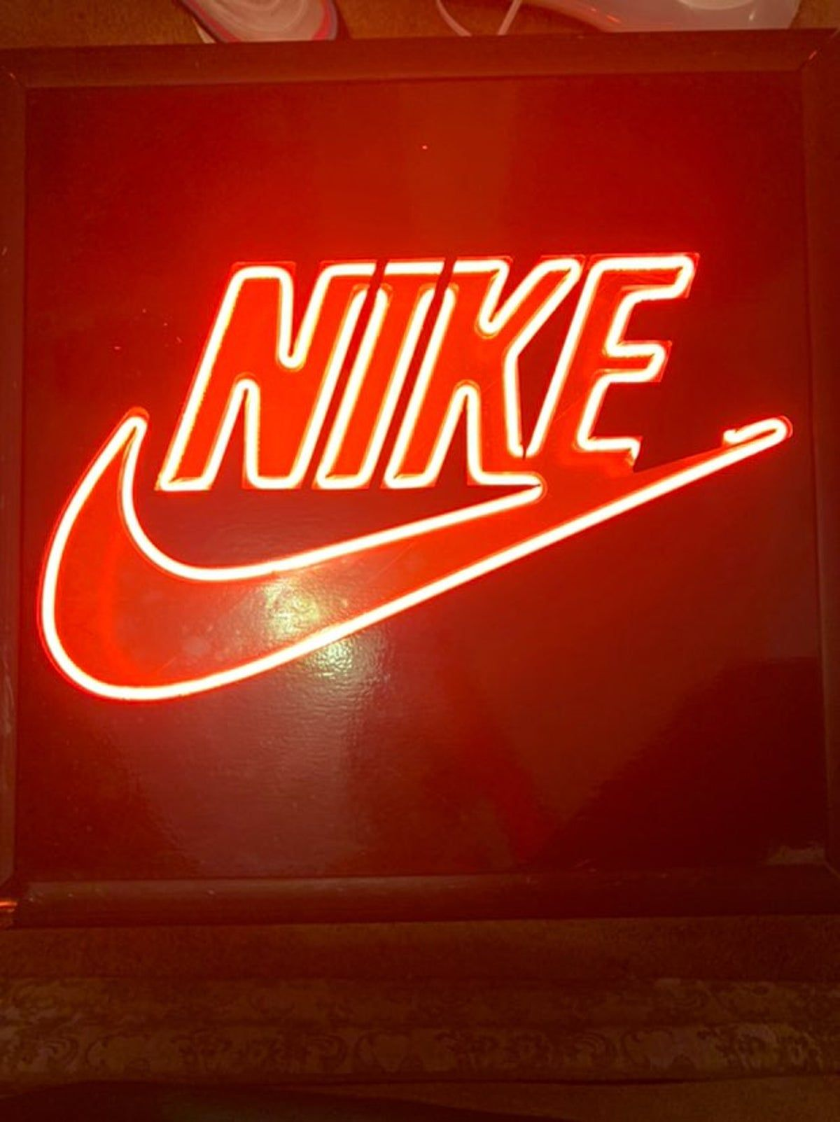 Vintage Nike Sign Dark Red Wallpaper Red Aesthetic Red And Black Wallpaper