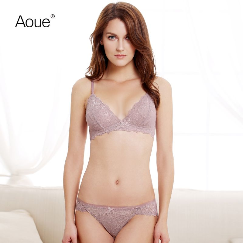 c4d9b5be34 Aoue women Seamless Luxury brand transparent bra romantic temptation lace  bow bra set underwear set push up bra and sexy set   Price   41.82   FREE  Shipping ...