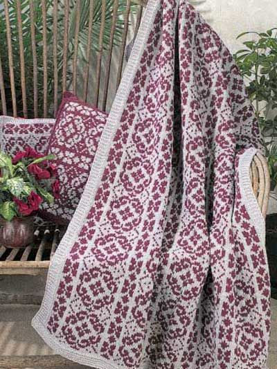 Scandinavian Knit Throw Free Pattern To Download Registration Necessary Free Patterns Com Knitted Afghans Crochet Afghan Free Knitting