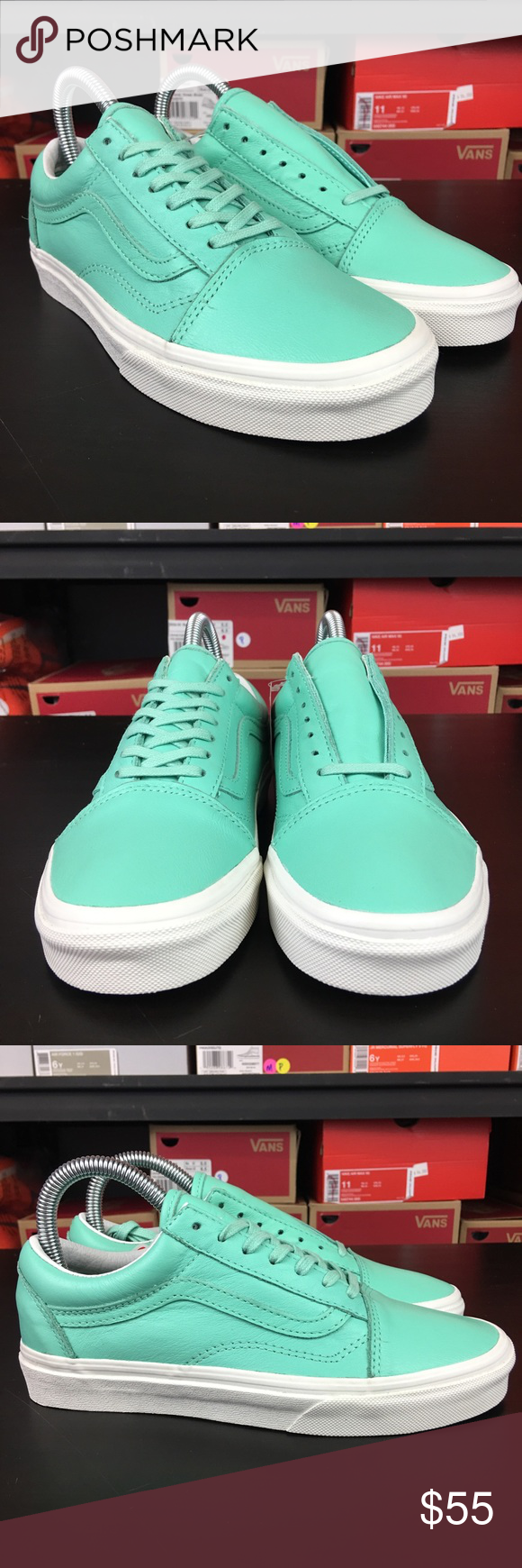 2807d2b777 Vans Old Skool Pastel Pack Ice Green Mint Women s Brand new with box ...