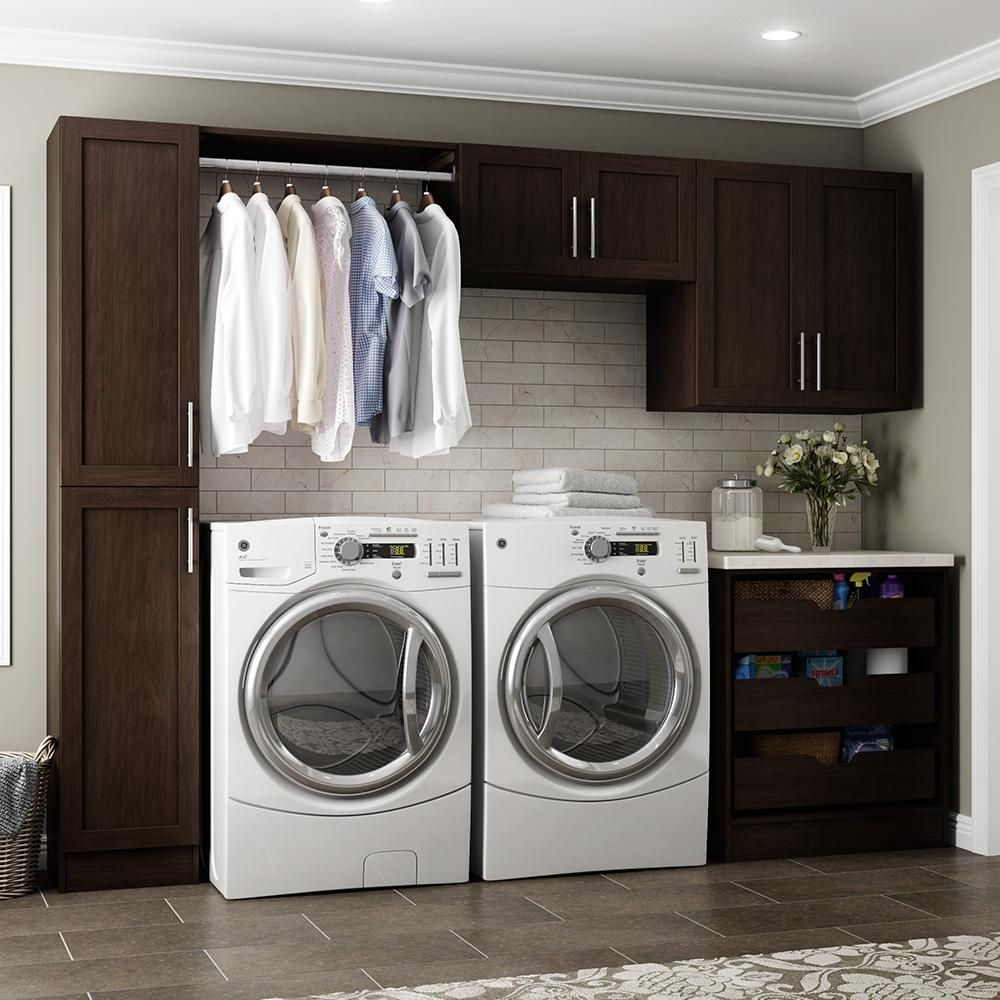 Modifi Madison 105 In W White Laundry Cabinet Kit Enl105 Mpw
