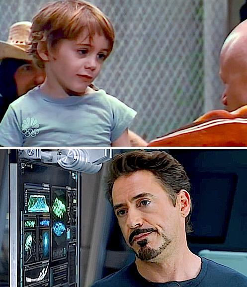Robert Downey Jr Kids: AWWWW-- RDJ & Tony Stark