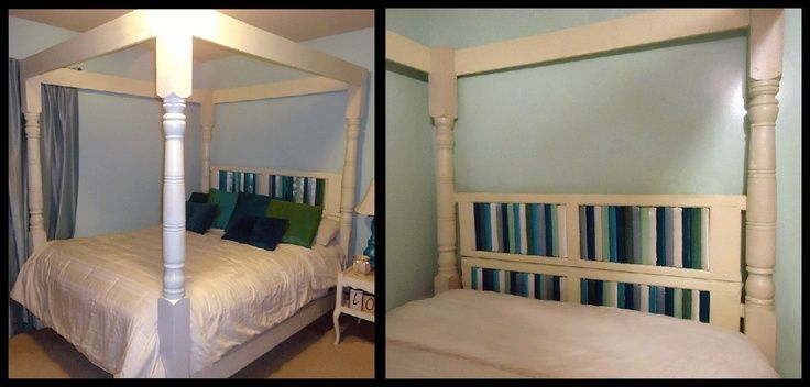 porch post headboard | Homemade Canopy Bed made from recycled porch posts and window shutters . & porch post headboard | Homemade Canopy Bed made from recycled ...