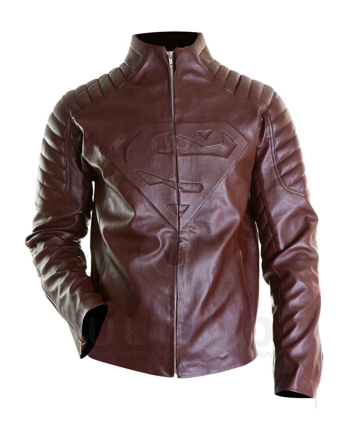 Superman Brown Smallville Leather Jacket This jacket is