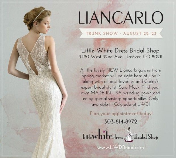 Liancarlo bridal trunk show at little white dress in denver little liancarlo bridal trunk show at little white dress in denver little white dress bridal shop junglespirit Images