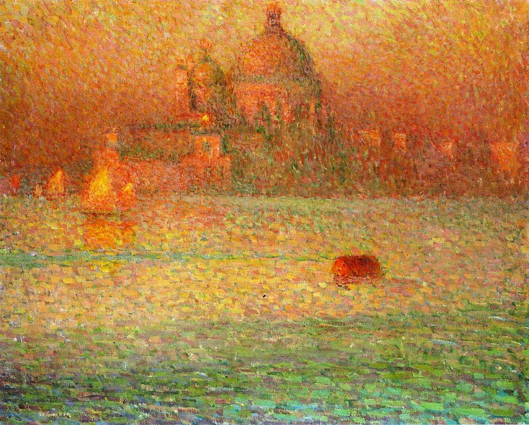 The Athenaeum - The Salute, Winter Morning, Venice (Henri Le Sidaner - )