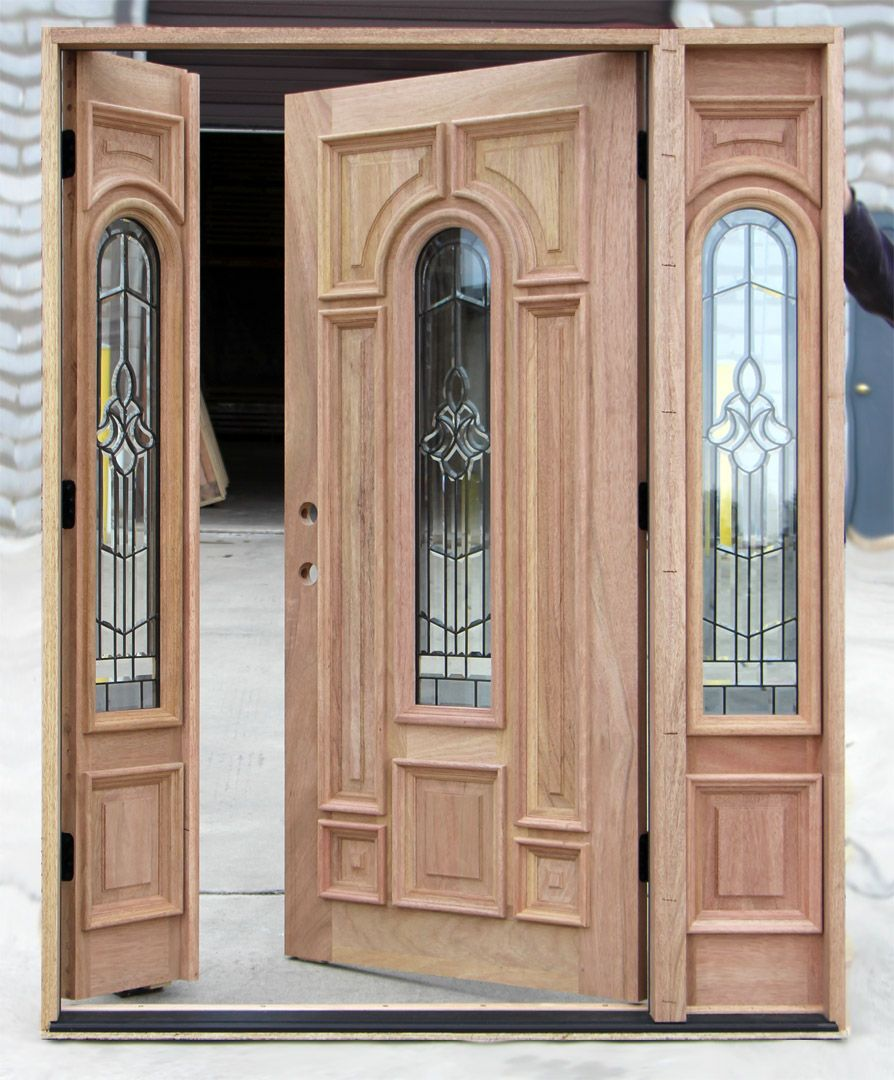 Lovely Entry Door with Venting Sidelites