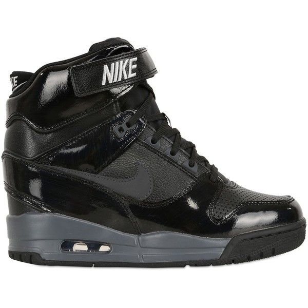 separation shoes 10d9b a8e7a nike air revolution sky hi wedge sneakers found on polyvore