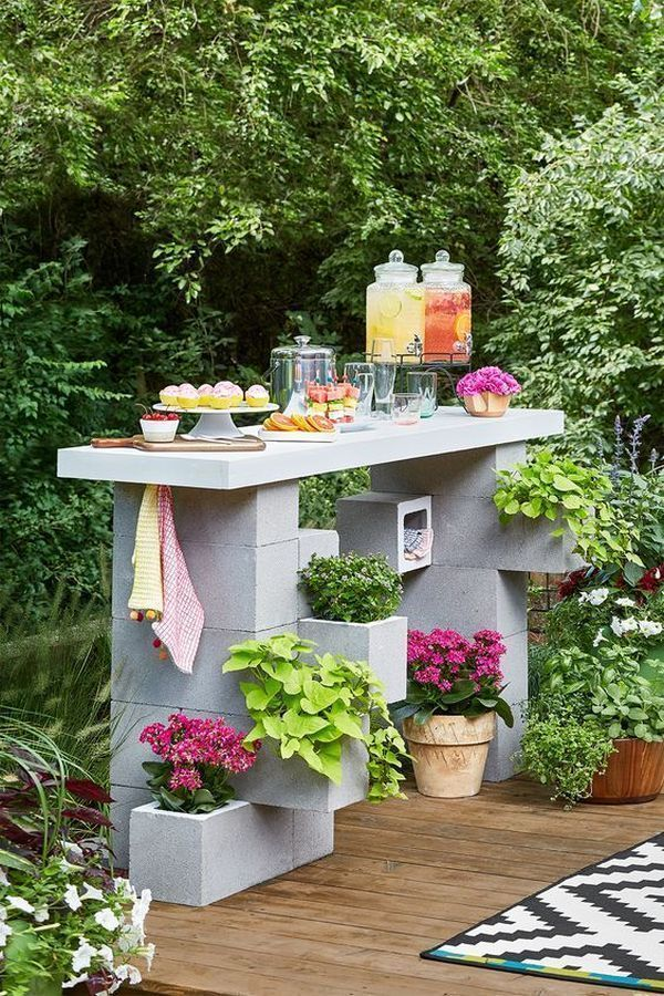 DIY crafts with building materials that we can use creatively in the garden