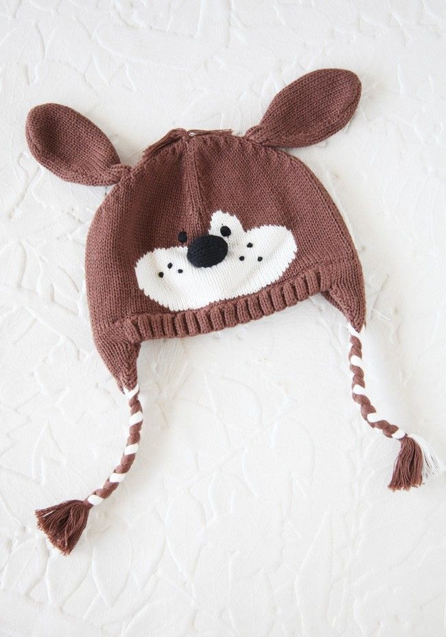 Lucky Puppy Crocheted Hat for baby\'s winter wardrobe   Ropa de ...