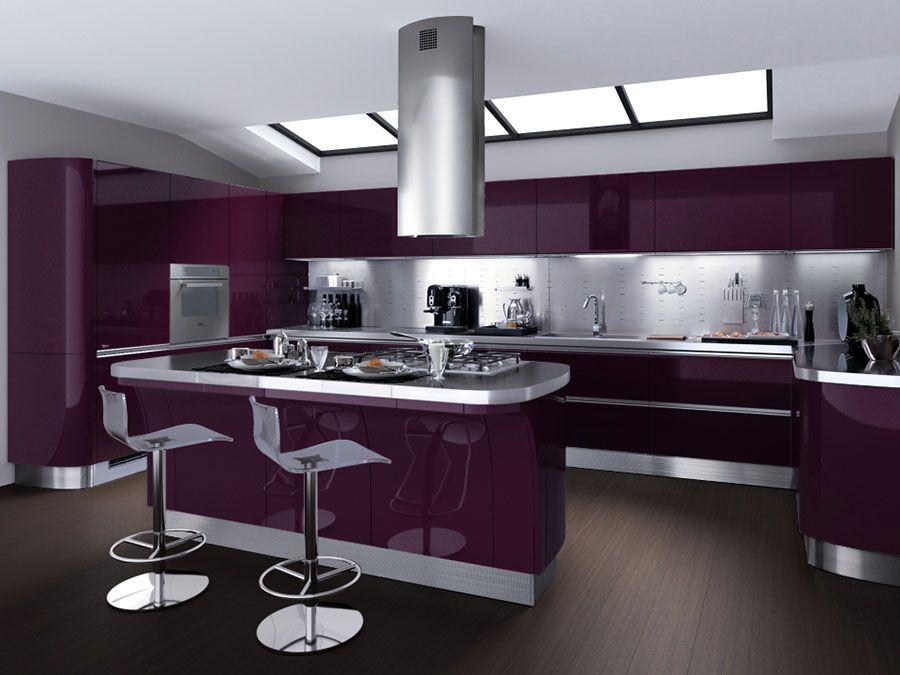 20 Modelli di Cucine Viola delle Migliori Marche   Kitchen ...