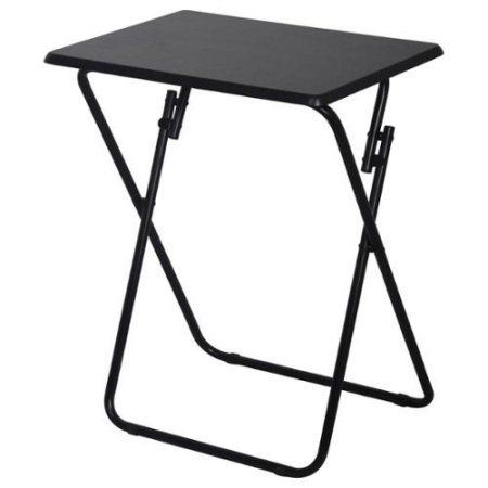 Folding Tv And Snack Tray Table Black Snack Tray Tables Tv Tray