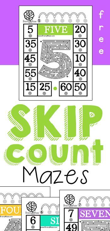 free skip counting mazes for kids multiplication practice for numbers 2 9 fun mazes and. Black Bedroom Furniture Sets. Home Design Ideas