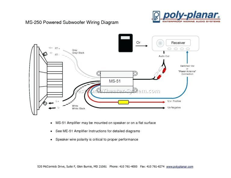 3 Wire Stop Start Wiring Diagram Subwoofer Wiring Powered Subwoofer Subwoofer