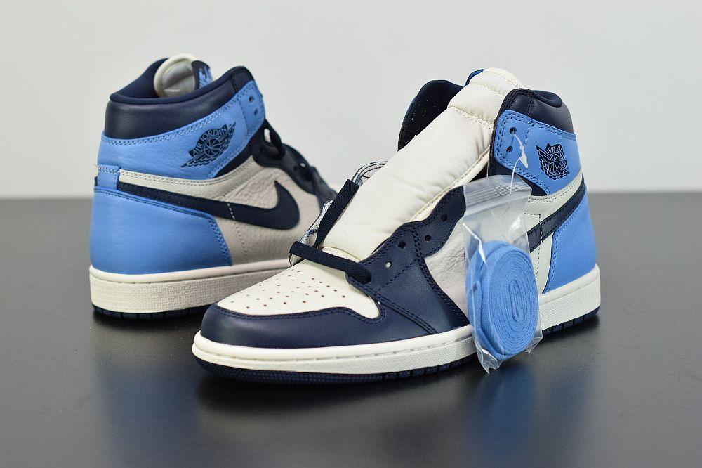 Air Jordan 1 Obsidian University Blue 555088 140 In 2020 With