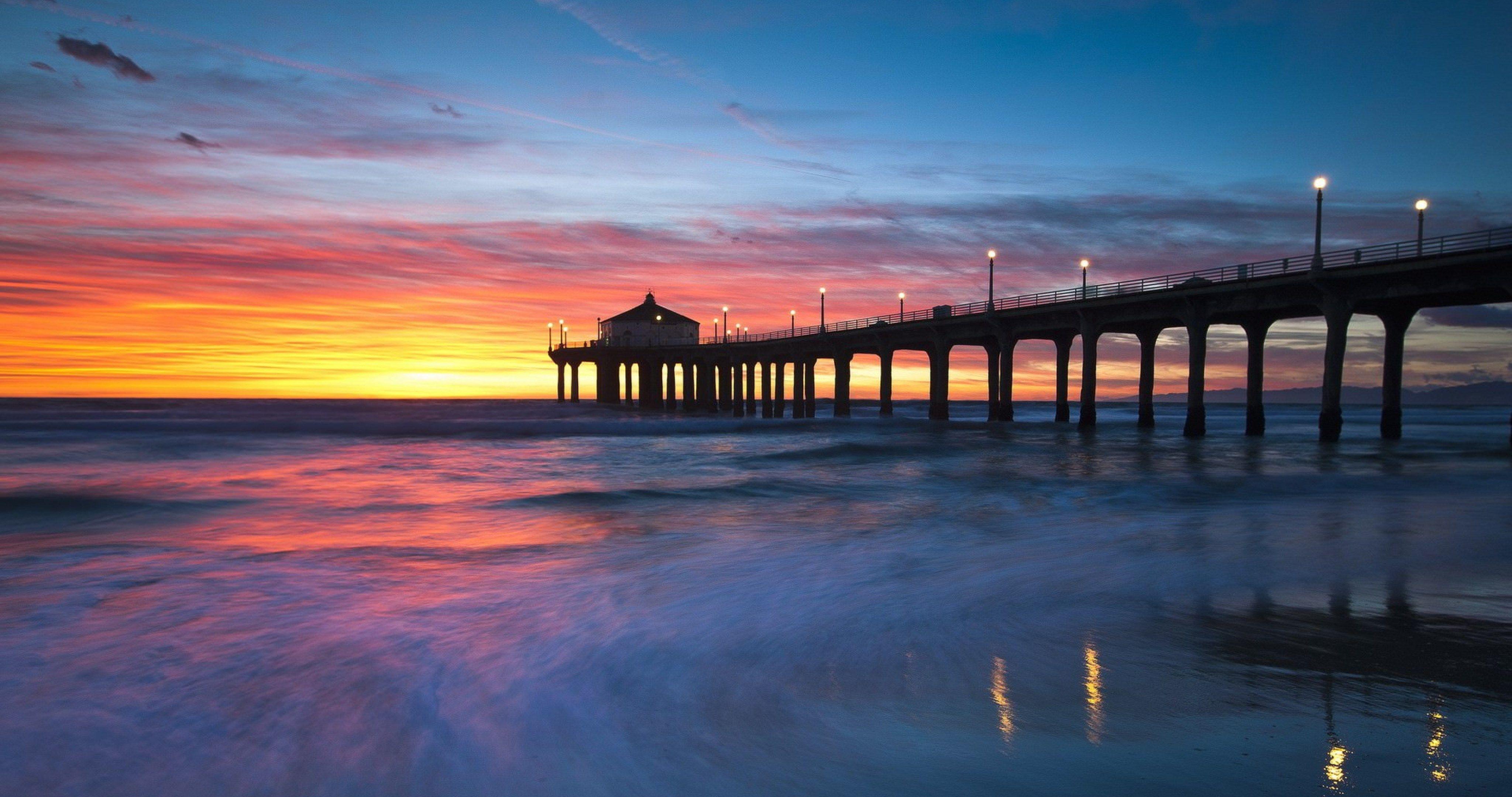 United States California Manhattan Beach 4k Ultra Hd Wallpaper