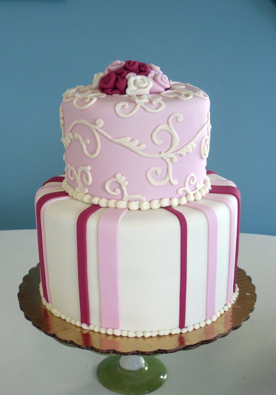30 awesome photo of 2 tier birthday cakes birthday cake