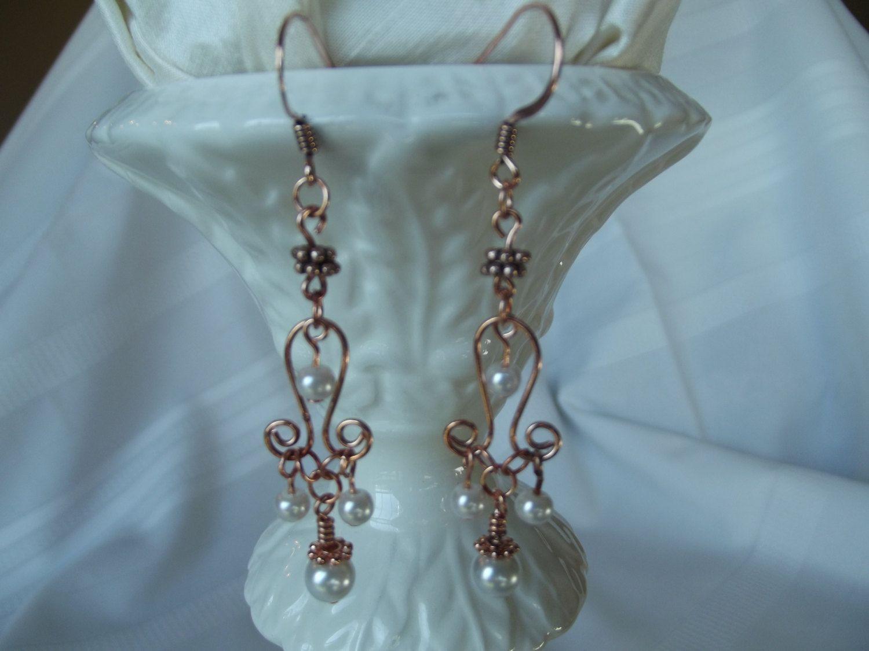 Pearl Chandelier Earrings- White by SoulSecretsStudio on Etsy ...