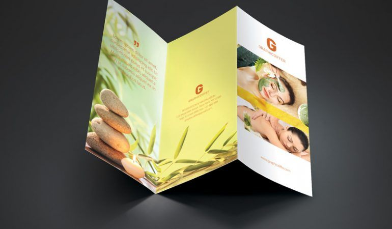 Spa Trifold Brochure Template Graphicdiffer More At
