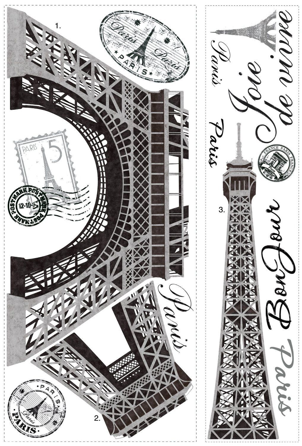 Eiffel tower paris wall decals wall decals tower and teen eiffel tower paris wall decals amipublicfo Images