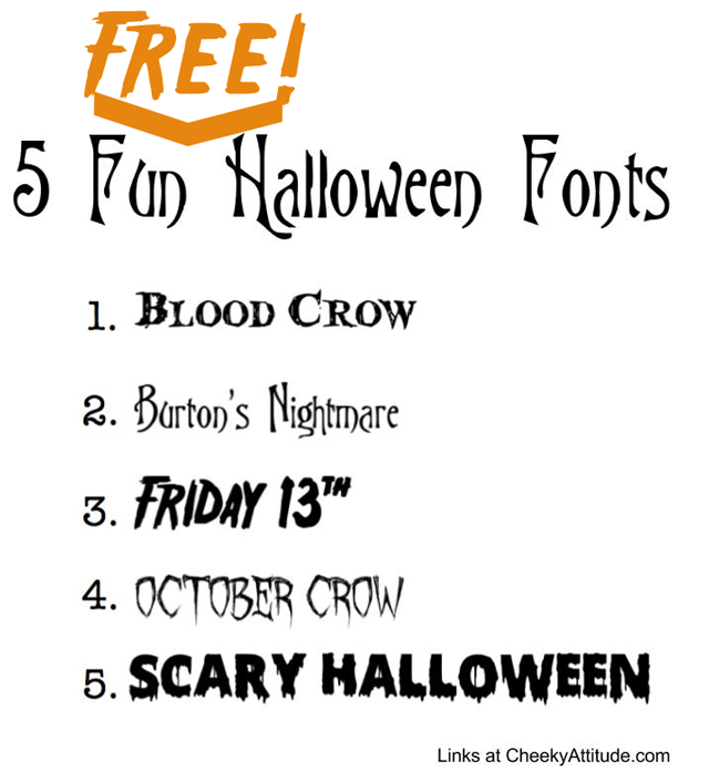 5 fun halloween fonts