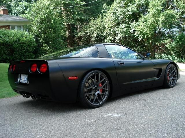 Matte Black Corvette C5 Black Corvette Corvette C5 Corvette