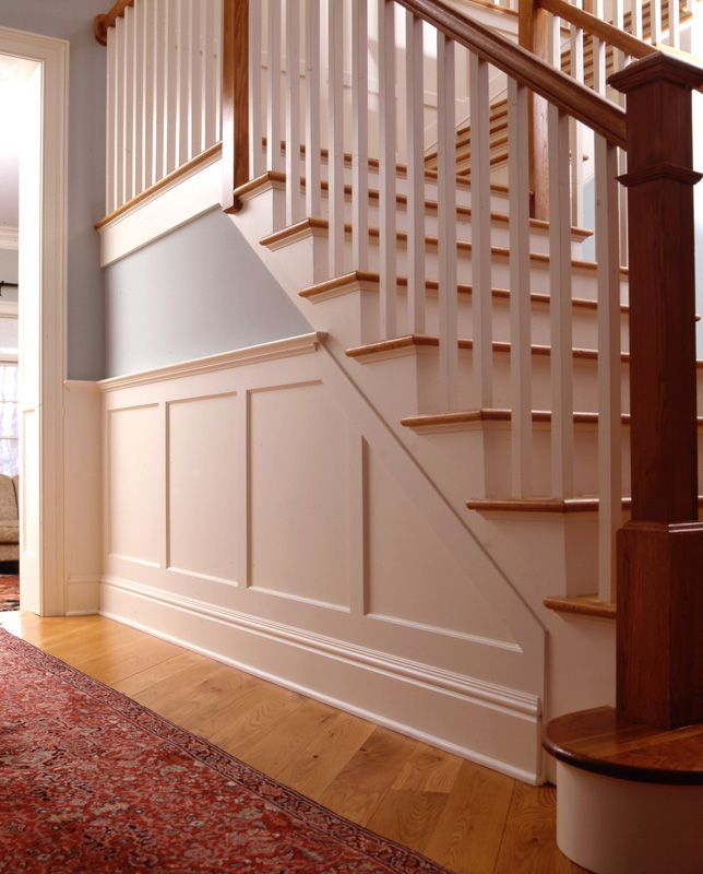 Grey Panelling Under Stairs: Wainscot Solutions Recessed Panel