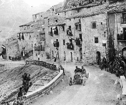 1907 Targa Florio , Sicilia , Felice Nazzaro on Fiat - 1st