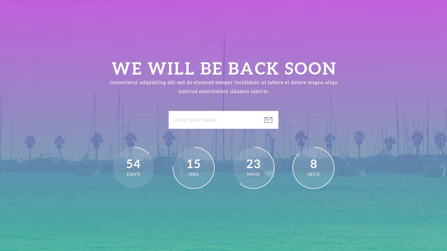 Notify Free Coming Soon Template Freebies Pinterest Template