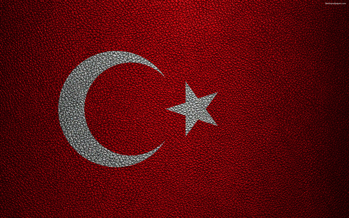 Download Wallpapers Flag Of Turkey 4k Leather Texture